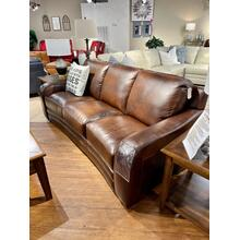 See Details - Pacific Chestnut Leather Sofa