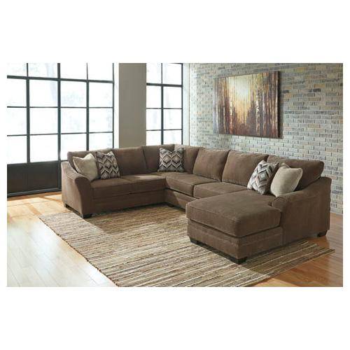 Benchcraft - 3 PIECE SECTIONAL W/ RSF CHAISE
