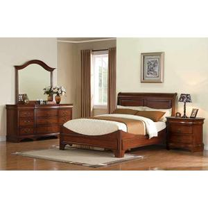 Renaissance Cherry Queen Sleigh Bed