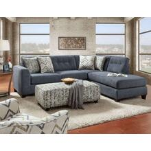 SS1615-26R/21L  Sensation Slate Sectional & Ottoman