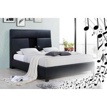 Calypso - Black Upholstered Music Bed
