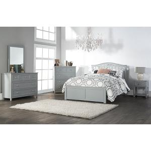 Hillsdale Furniture - Full Finley Arch Spindle Bed - Gray