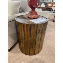 View Product - Reclaimed Wood Round Cocktail End Table
