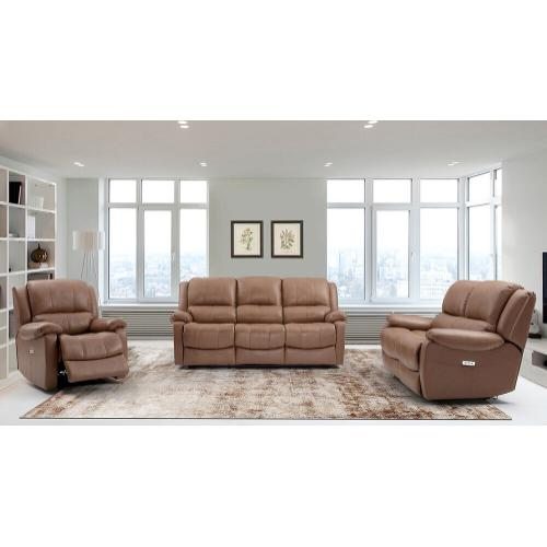 Genuine Leather Power Reclining Sofa and Loveseat