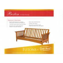 View Product - Boston Oak Futon Frame.Includes 9 inch Futon