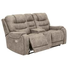 See Details - Yacolt Power Reclining Console Loveseat with Power Headrest