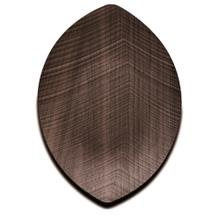 Legnoart Leaf Walnut Wood Large Serving Tray, 17 x 10-Inches