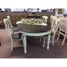 See Details - Extending Leg Table and 4 Napoleon Side Chairs