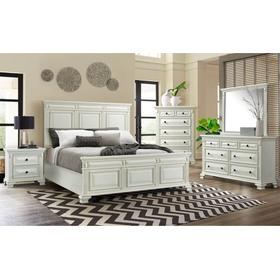 Calloway King 8 Piece White Bedroom Group