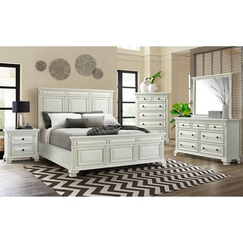 Elements - Calloway King 8 Piece White Bedroom Group