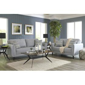 Cardello Sofa & Loveseat Steel