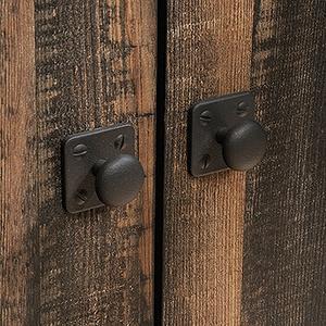 Steel River Bookcase with Doors