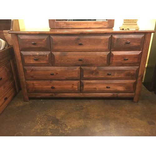 9 Drawer Dresser American Chestnut