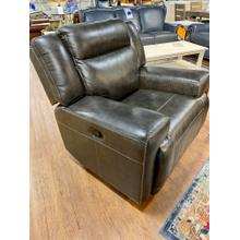 Sanibel Graphite Leather Recliner
