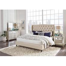 Mirror UPHOLSTERED Queen Bed