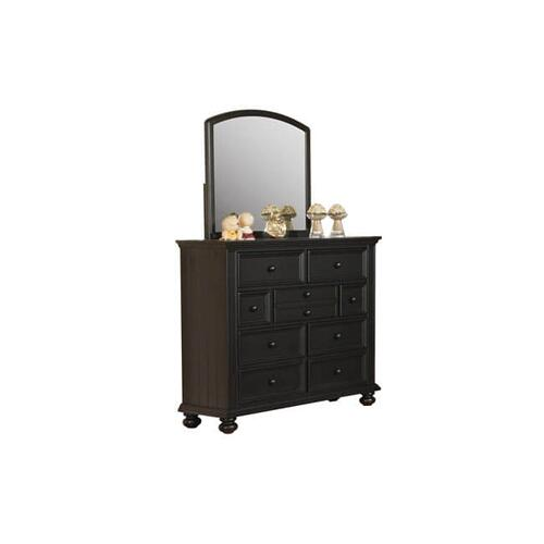 Cape Cod Ebony 9-Drawer Tall Dresser