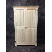 """Maine Made 60"""" Armoire W/Interior Drawer 36W X 60H X 20D Pine Unfinished"""