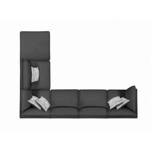 Serene  Charcoal Modular 5 Piece Sectional