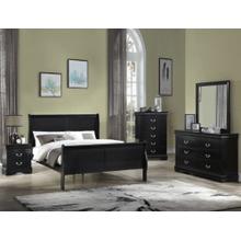 See Details - CrownMark 4 Pc Queen Bedroom Set, Black Louis Philip B3900