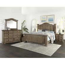 Rustic Hills 6pc King Bedroom Set Grey Finish