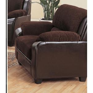 Monika Transitional Chocolate Chair