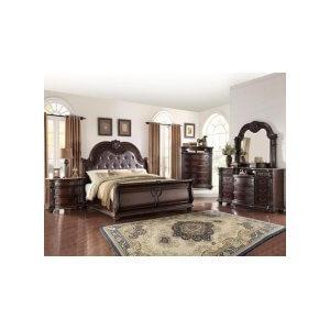 Stanley Qn Bed, Dresser, Mirror, Chest and Nightstand