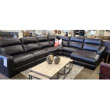 See Details - LEATHER RECLINING SOFA WITH RECLINING CHAISE