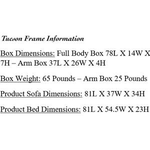 Mattress Discount Southgate - Tucson Rustic Walnut Futon Frame