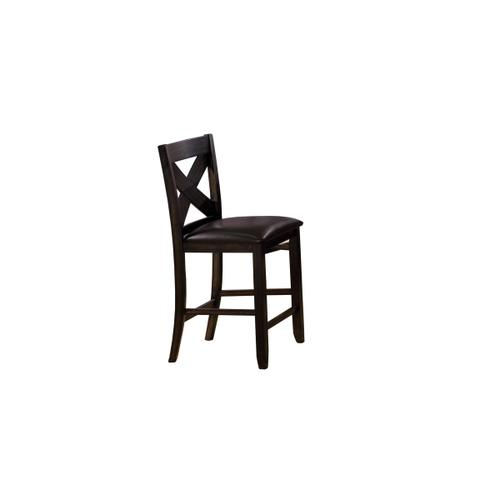 Dark Brown X Back Bar Stool