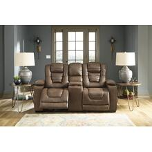 View Product - Owner's Box Power Reclining Loveseat With Console Thyme