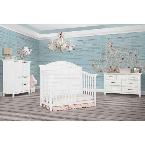 Product Image - Evolur Belmar 5 in 1 Convertable Crib - Weathered White