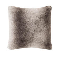 Serengeti Luxury Faux Fur Square Pillow by Madison Park Signature