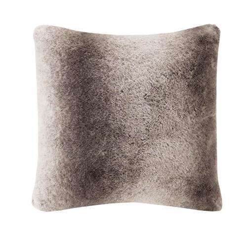 Serengeti Luxury Faux Fur Square Pillow by Madison Park Signature