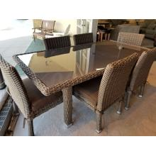 Outdoor 7-Piece Charcoal Rattan Dining Set