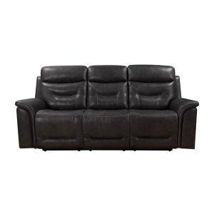 Bullard Power Reclining Sofa in Gray Leather