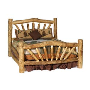 Aspen Storm Mountain Log Bed ( Arched )