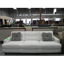 WHITE UPHOLSTERED SOFA