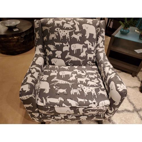 Doggie Graphite Accent Chair