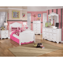 Exquisite- White- Dresser, Mirror, Chest, Nightstand & Twin Sleigh Bed
