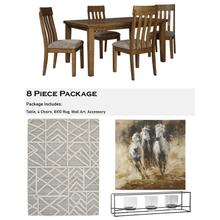 Flaybern 8 Piece Dining Room Package