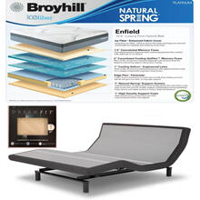 Leggett & Platt Prodigy 2.0 Adjustable Bed, Broyhill Enfield Cushion Firm Hybrid Mattress and set of Dreamfit Sheets