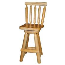 "W164  24"" Swivel Counterstool with Back"