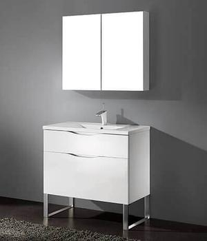 """MILANO 36"""" VANITY ONLY - GLOSSY WHITE Product Image"""
