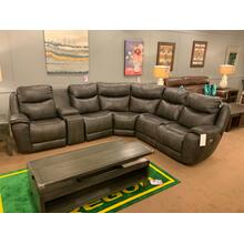 See Details - 736 Leather Power Reclining Sectional With Adjustable Headrest & Next Level Zero Gravity