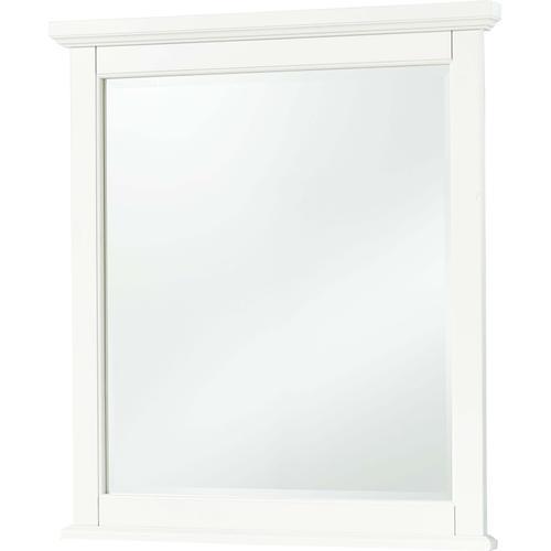 White Small Landscape Mirror