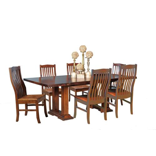 Live Edge Table and 4 Side Chairs