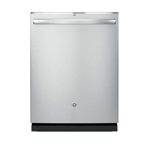 GE Appliances - GE 46dBA Stainless Steel Top Control with Stainless Steel Tub
