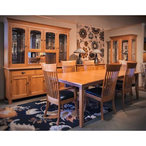 Unplugged Furniture - Curved Shaker Dining Room Set