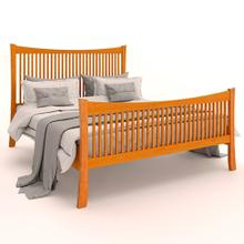 Queen Armstrong Solid Natural Cherry Spindle Bed
