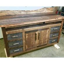 Locally Made Reclaimed Barnwood Vanity